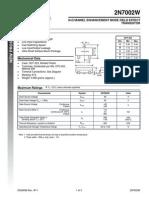 2N7002W Diode Datasheet