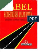 Tabel Konstruksi Jalan Raya