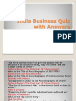 India Business Quiz With Answers