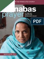 Prayer Diary March/April 2014