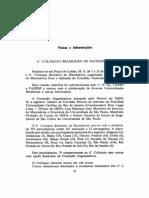 -Coloquio Brasileiro de Matematica