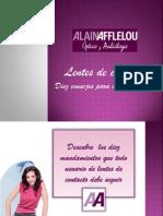 Alain Afflelou -Lentes Contacto- 10 consejos