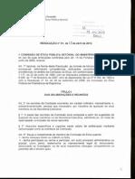 Atribuições da CEPS Rosolução0001