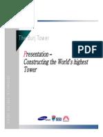 The Burj Tower Presentation