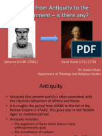 Atheism From Antiquity to the Enlightenment
