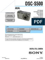 SONY DSC-S500 SERVICE MANUAL LEVEL 2 VER 1.3 2007.08 (9-852-124-14)