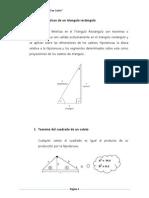 Relaciones métricas de un triangulo rectángulo s