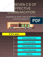 The Seven c's of Effective Communication