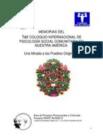 Memorias Primer Coloquio Internacional de Psicologia Social Comunitarianov2013
