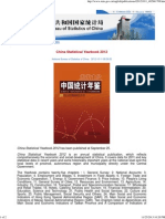 China Statistical Yearbook 2012