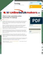 Hvem er den autentiske online bookmaker for betting?