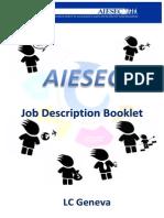 Job Descriptions Booklet - Spring 2014