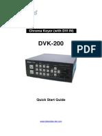 Datavideo DVK 200 Instruction Manual