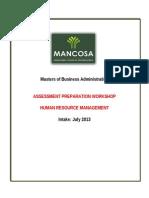 Assessment Prep HRM MBA July 2013