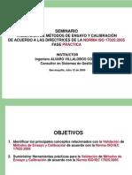 Seminario Validación de Métodos de Ensayo 17025 - Parte Práctica