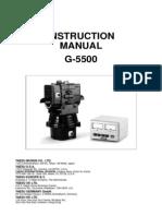 G-5500 Operating Manual