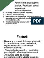 Tema 2. Factorii de Productie Si Combinarea Lor