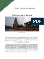 The Brihadeeswarar Temple 2