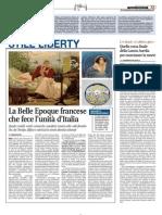 14.2.2014, 'La Belle Epoque francese che fece l'unità d'Italia', Libero quotidiano