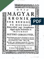 Pethő Gergely - Rövid Magyar Krónika 373-1626 (1729)