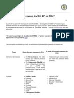 Icfes Examenes - Segundo Semestre 2014