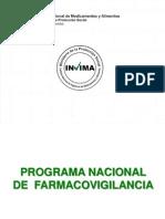 3. Programa Nacional de Farmacovigilancia