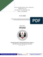 Membangun Komunikasi Data Dengan Wireless Lan Di RSUD R. Syamsudin SH