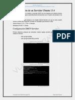 DHCP Instalación de un Servidor Ubuntu 13.04