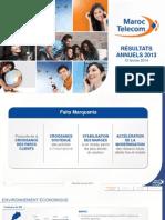 Maroc Telecom - Présentation Résultats FY2013 (FR)
