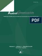 Austral Comunicación - Vol 2 N° 2 Diciembre de 2013