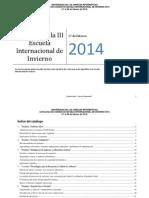 Catálogo  III Escuela de Invierno  2014
