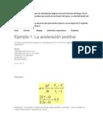 ejemplos acelracion