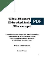 The Heart of Disciplining