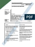 ABNT NBR 5413 ILUMINÂNCIA DE INTERIORES