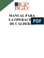 Manual Operacion Calderas
