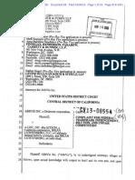 AbbVie v. Kitson, 2-13-CV-08554-CBM-VBK (C.D. Cal.) (refiled and redacted complaint)