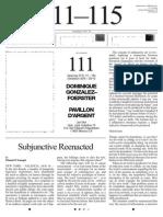"""Manuel Cirauqui, """"Subjunctive Reenacted"""" JanMot Newspaper 2011"""
