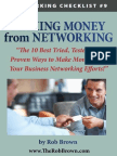 The 10 Best Ways to Make Money From Networking