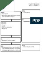 A3 Problem solving tool format
