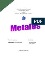 Caracteristicas de Los Metales (Iutepal)