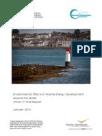 Environmental Effects of Marine Energy Development Annex_iv_report