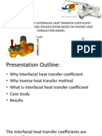 Identification of Interfacial Heat Transfer Coefficient During Casting