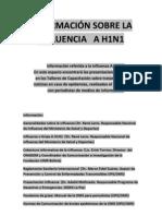 Información sobre la influenza A H1N1