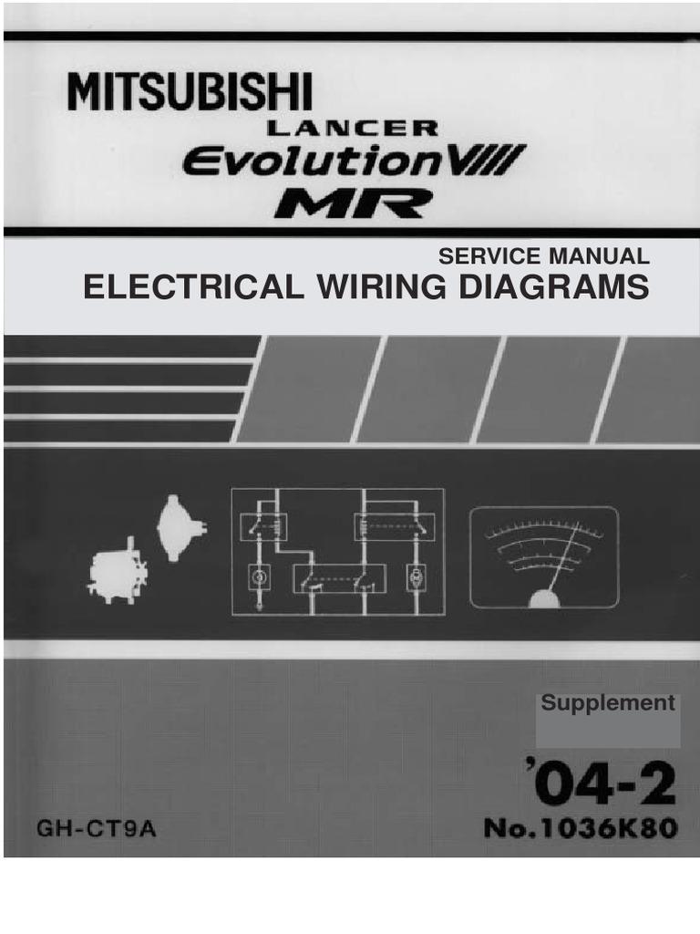 Service Manual Elecrical Wiring Diagrams Headlamp Lighting Mitsubishi Electric Diagram