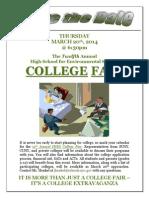 College Fair Flyer 1 2014