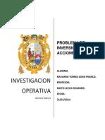 PROBLEMA DE INVERSIÓN EN ACCIONES NAVARRO TORRES