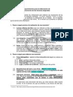 Instrucciones elaborar recensión 2013