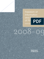 FOIP Annual Report 2008-09