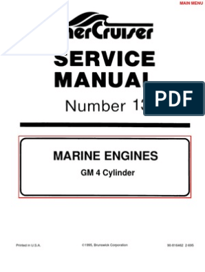 mercruiser manual gm 4 cylinder propeller internal combustion engine  ignition wiring diagram gm marine 181 #7