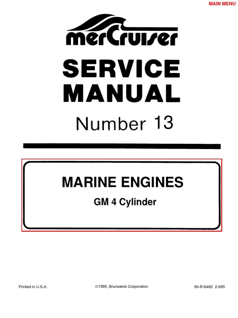 mercruiser manual gm 4 cylinder gasoline ethanol rh scribd com 454 Mercruiser Engine Carburetor mercruiser 140 hp service manual